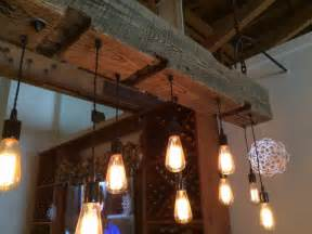 Ceiling Mount Pulley by Huge Rustic Industrial Chandelier With Reclaimed Wood Beam