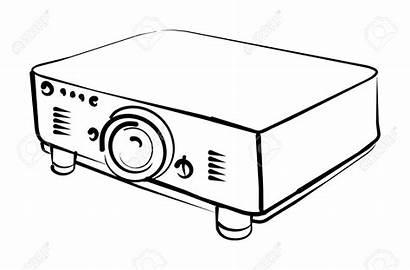 Projector Clipart Proj Vector Illustration Background Clip