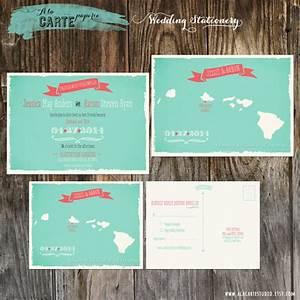 hawaii islands wedding invitation and rsvp card by With etsy hawaii wedding invitations
