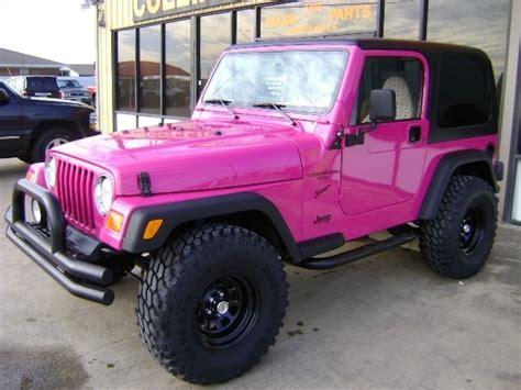 jeep wrangler custom pink pink jeep wrangler so girly so cute dream car