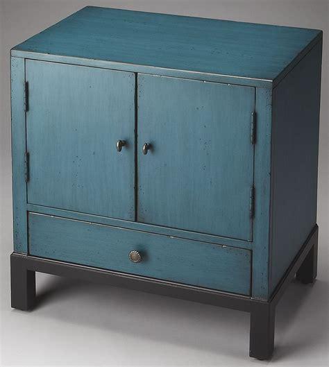 blue accent cabinet courtland artists originals distressed blue accent