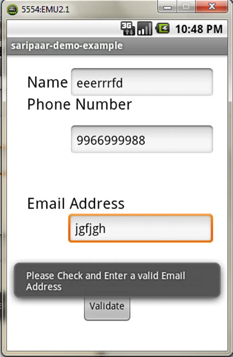 one source phone number android practices name phone number email validation