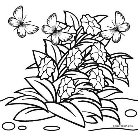 printable flower coloring pages  kids coolbkids