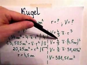 Oberfläche Kugel Berechnen : kugel oberfl che und volumen berechnen youtube ~ Themetempest.com Abrechnung