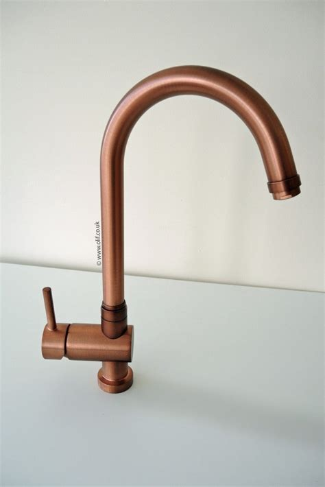 kitchen faucet water pressure brushed copper kitchen mixer tap idrotech copper olif