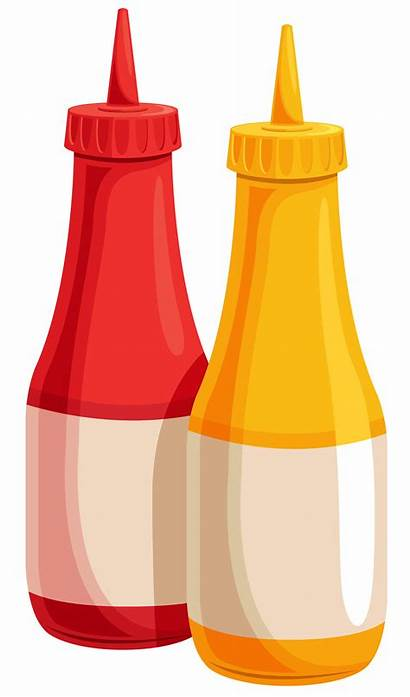Ketchup Mustard Clipart Bottle Clip Bottles Transparent