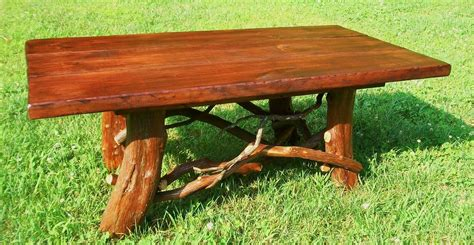 cabin coffee table crafted rustic coffee table with mountain laurel base