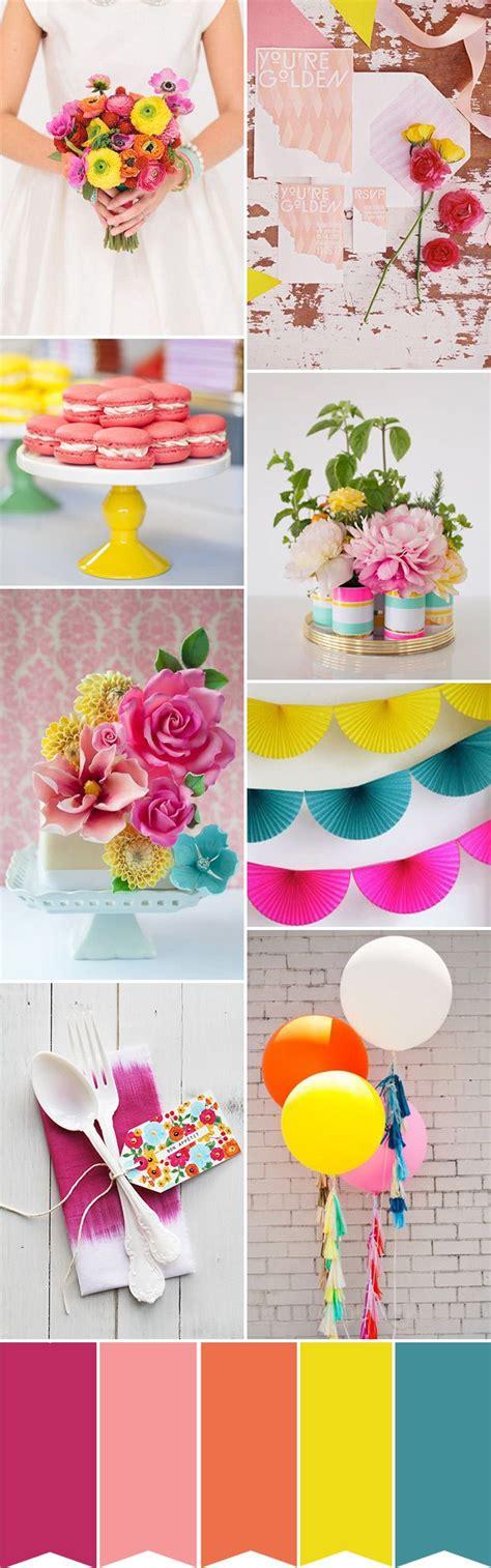 Colour Play Creating A Fun Wedding Palette Bright