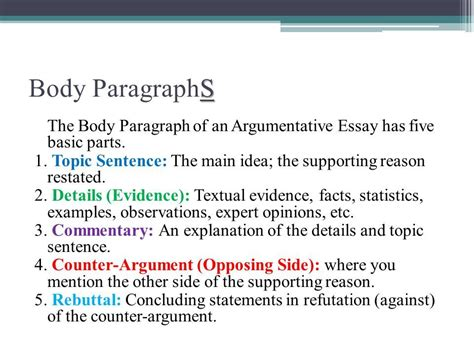 Argumentative Essay Examples 6th Grade Related Post Of How To