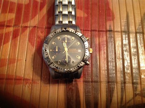 vintage pulsar quartz chronograph mens  ebay