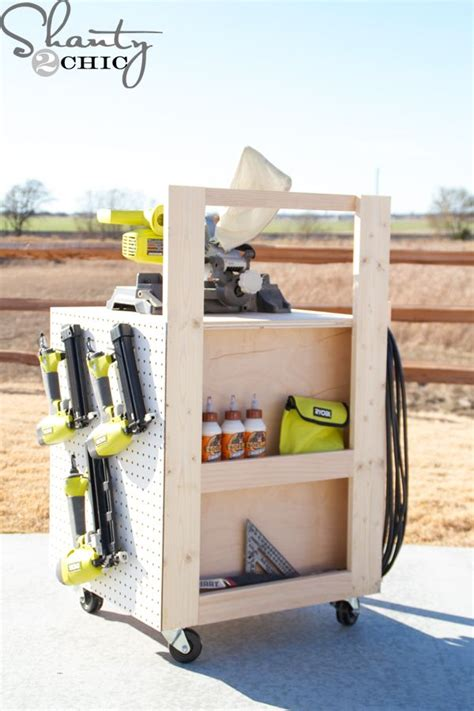 diy air compressor cart diy garage storage workshop