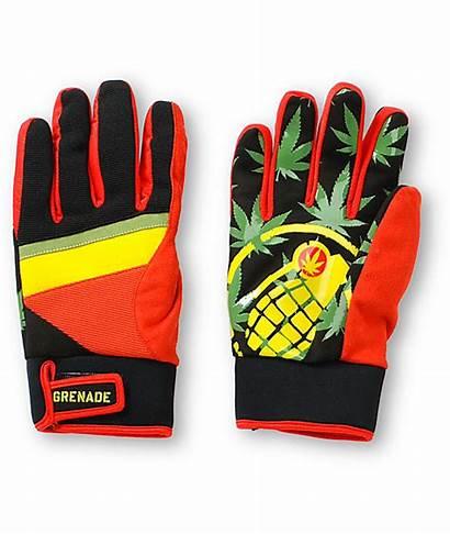 Gloves Grenade Snowboard Rasta Gnarly Bob Zumiez