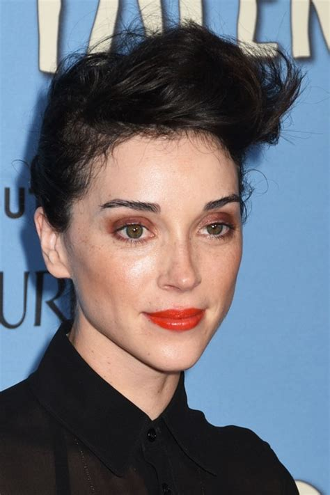 St. Vincent Straight Black Choppy Layers, Mohawk Hairstyle