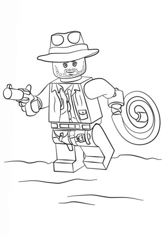 lego indiana jones coloring page  printable coloring