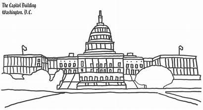 Coloring Capitol Building Washington Dc Buildings American