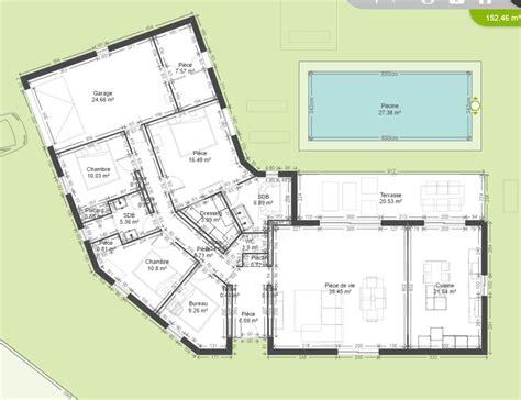 maison 6 chambres plan de maison plain pied 4 chambres bureau segu maison