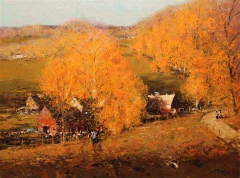 john terelak vermont fall painting  sale  stdibs