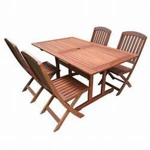 Table Jardin Acacia : salon de jardin acacia table 150cm 4 chaises pliantes achat vente salon de jardin en bois ~ Teatrodelosmanantiales.com Idées de Décoration