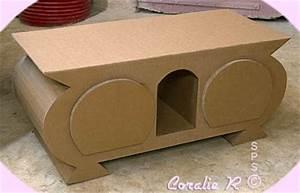 Meuble En Carton Design : meuble tv plusieurs styles de banc t l en carton ~ Melissatoandfro.com Idées de Décoration