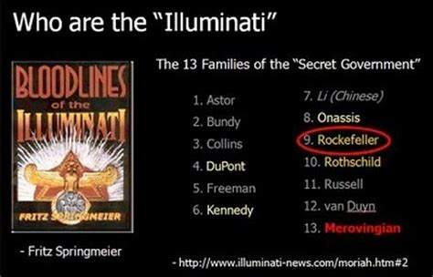 Illuminati Families The 13 Families Of The Illuminati Bloodlines 12160