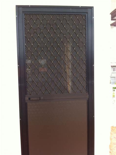 single swing type screen door  alcoframe profile society glass gabriel builders