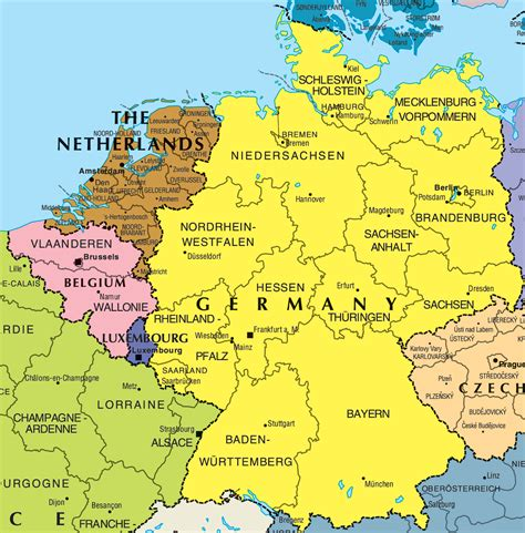 political map  germany full size