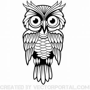 Free vector illustration of an owl. | Animal Vectors ...