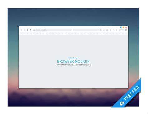 Browser Mockup Top 29 Web Browser Mockups In Psd And Ai In 2018 Colorlib