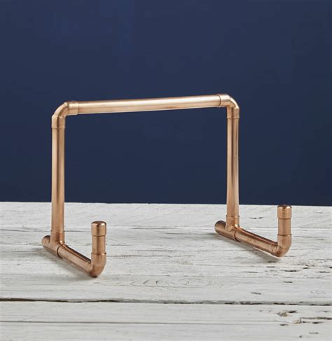 industrial style desk industrial copper piping book stand by lime lace