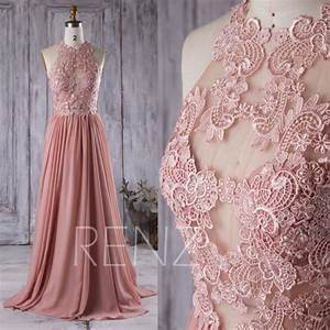 2016 dusty rose bridesmaid dress lace transparent wedding for Dusty rose wedding dress