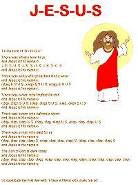 j e s u s song to the tune of b i n g o b bible ideas 658 | 52155ac1d37ed56320bcb99ec7667915
