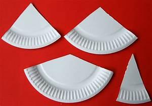 Fabriquer Un Sapin De Noel En Carton : un sapin de no l partir d 39 une assiette en carton ~ Nature-et-papiers.com Idées de Décoration