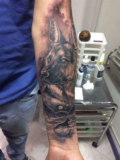 coolest german shepherd tattoo designs   world