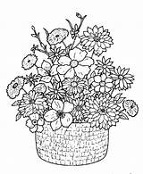 Bouquet Coloring Flower Pages Detailed Flowers Adult Adults Google Drawings Printable Colouring Floral Basket Boquet Classical Embroidery Azcoloring Bunch Sheets sketch template