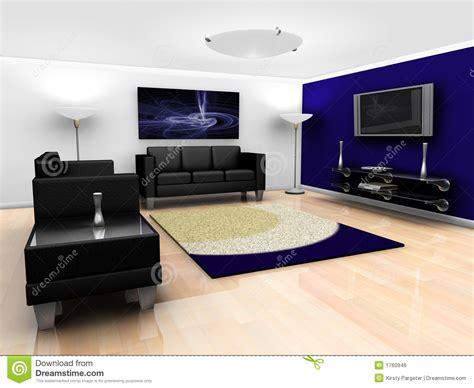 canap駸 modernes contemporains intérieur contemporain de salon image libre de droits image 1760946