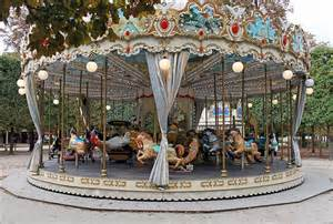 Tuileries Gardens Paris France Carousel