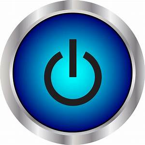 Big Image Blue Power Button Icon