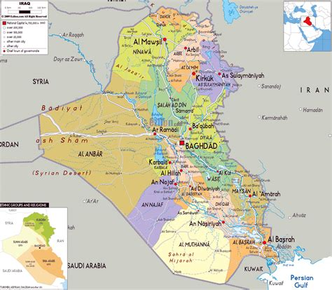 maps  iraq detailed map  iraq  english tourist