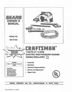 Sears 580 75133 Washer User Manual