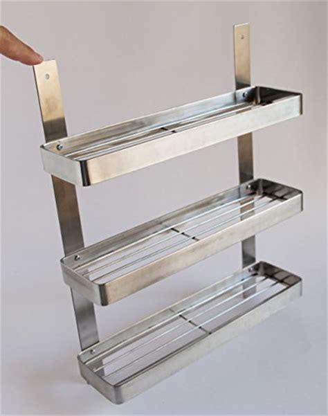 Stainless Steel Wall Spice Rack by Stainless Steel Kitchen Spice Shelf Rack Kitchen Organizer