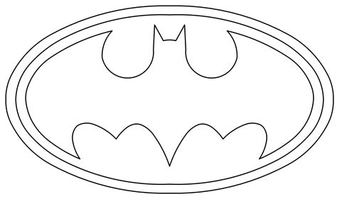 Absolutely Design Batman Symbol Coloring Page Coloring