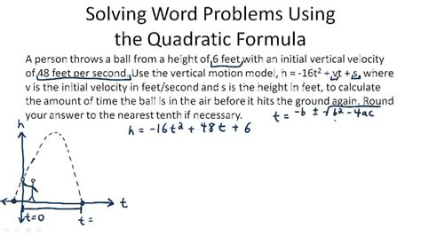 solving quadratic word problems worksheets quadratic formula ck 12 foundation