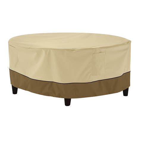 Round coffee tables aren't something you see every day. Classic Accessories Veranda™ Round Patio Ottoman/Coffee Table Cover - Water Resistant Outdoor ...