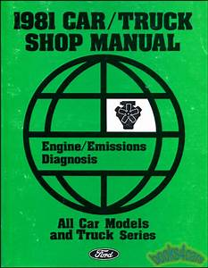 Shop Manual 1981 Service Repair Book Engine Emissions