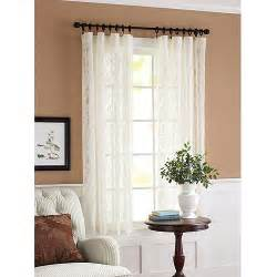 better homes and gardens lace damask curtain panel cream