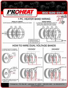 1-piece Heater Band Wiring Diagrams - Proheat  Inc