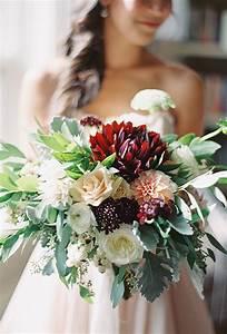 Romantic Dahlia Rose Centerpiece Best Burgundy Bouquet