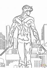 Nightwing Coloring Pages Printable Drawing Anime Supercoloring Paper Categories sketch template