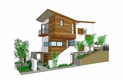 Plan Plans Modern Elevation Slope Lot Contemporary