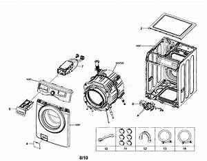 Samsung Washer Frame  Drain Pump Parts